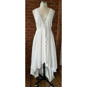 The Jetset Diaries Artisan Maxi Dress WHITE Small